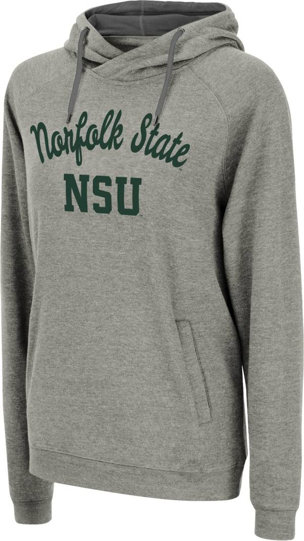 Colosseum Women's Norfolk State Spartans Grey Pullover Hoodie product image