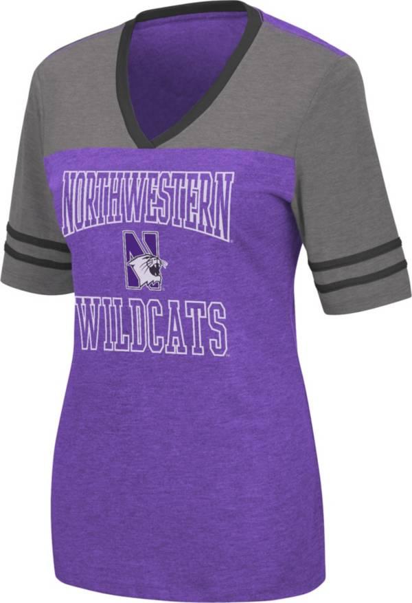 Colosseum Women's Northwestern Wildcats Purple Cuba Libre V-Neck T-Shirt product image
