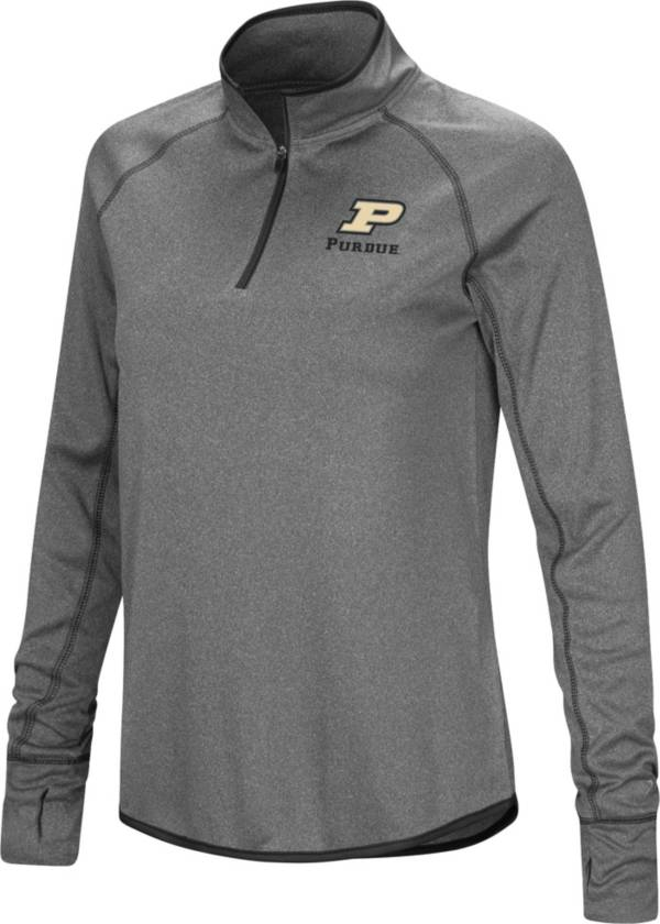 Colosseum Women's Purdue Boilermakers Grey Stingray Quarter-Zip Shirt product image