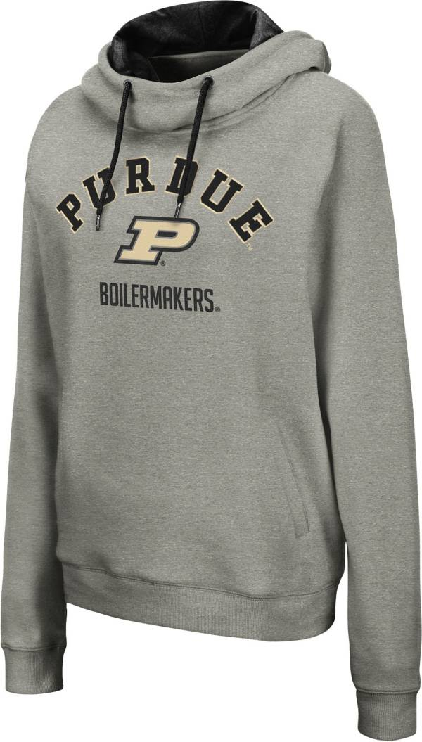 Colosseum Women's Purdue Boilermakers Grey Pullover Hoodie product image