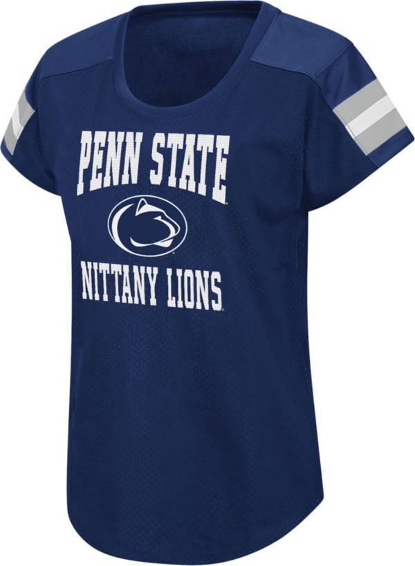 Colosseum Women's Penn State Nittany Lions Blue Football Dolman T-Shirt product image