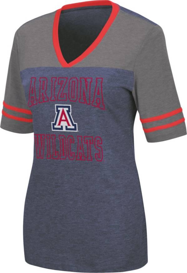 Colosseum Women's Arizona Wildcats Navy Cuba Libre V-Neck T-Shirt product image