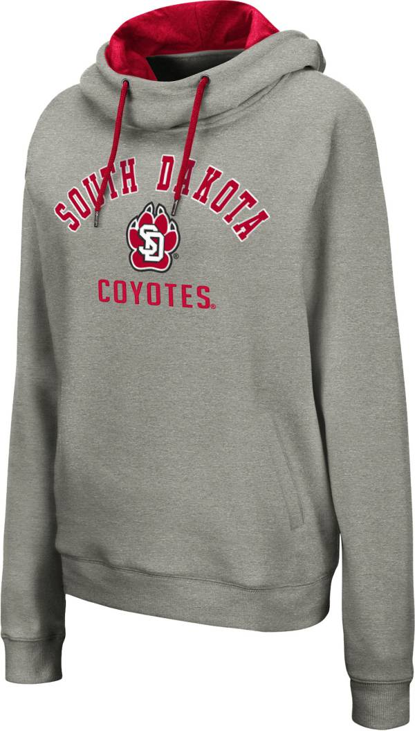 Colosseum Women's South Dakota Coyotes Grey Pullover Hoodie product image