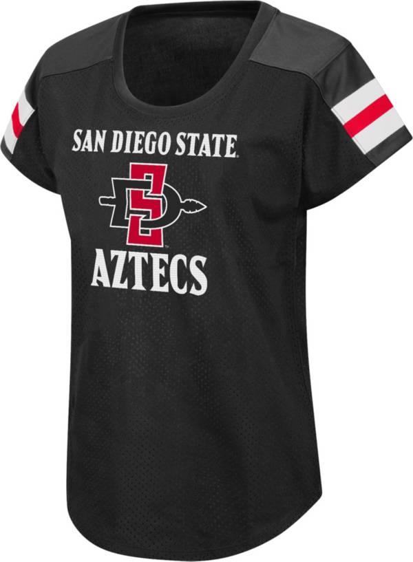 Colosseum Women's San Diego State Aztecs Football Dolman Black T-Shirt product image