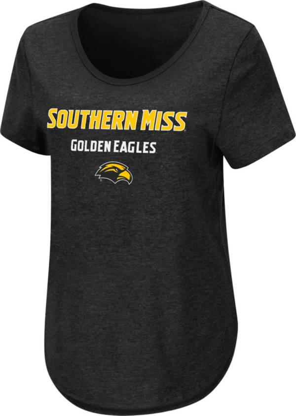Colosseum Women's Southern Miss Golden Eagles Rule Breaker Black T-Shirt product image