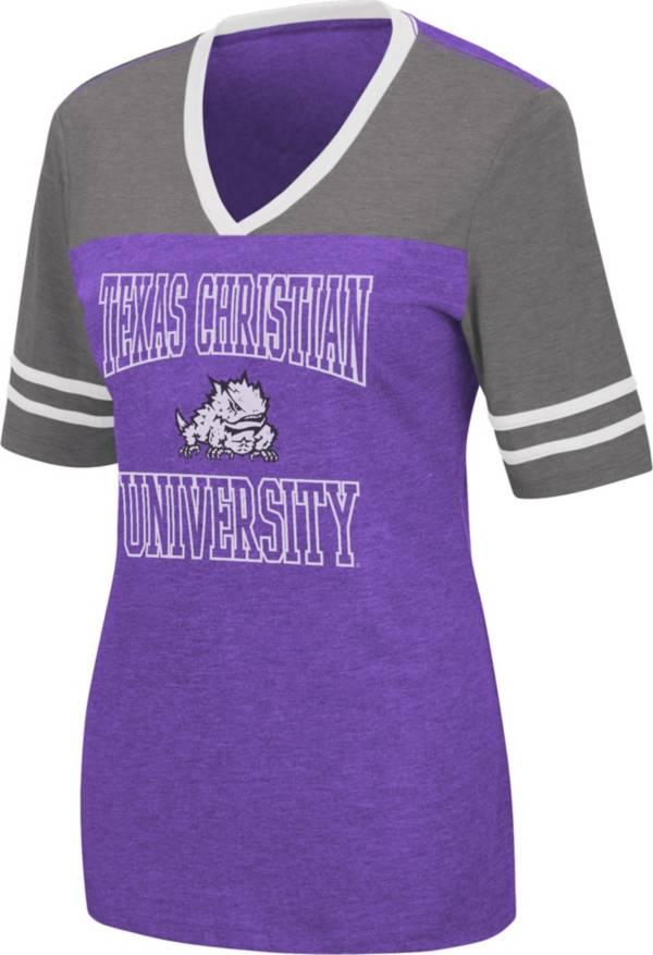 Colosseum Women's TCU Horned Frogs Purple Cuba Libre V-Neck T-Shirt product image