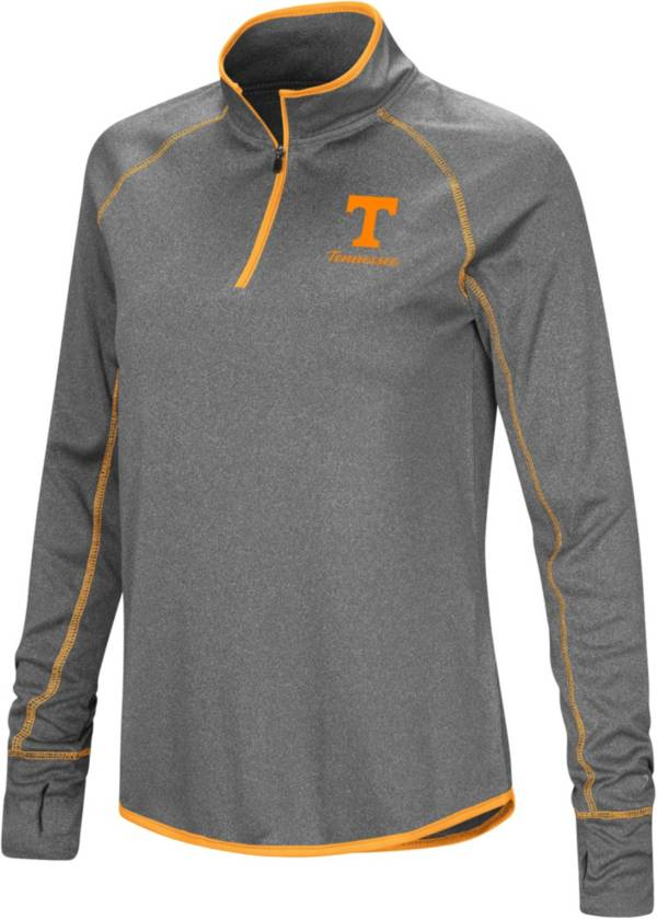 Colosseum Women's Tennessee Volunteers Charcoal Stingray Quarter-Zip Shirt product image