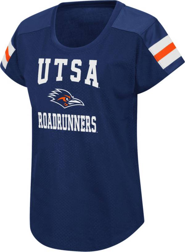 Colosseum Women's UT San Antonio Roadrunners Blue Football Dolman T-Shirt product image