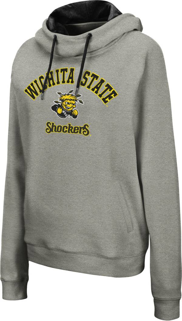 Colosseum Women's Wichita State Shockers Grey Pullover Hoodie product image