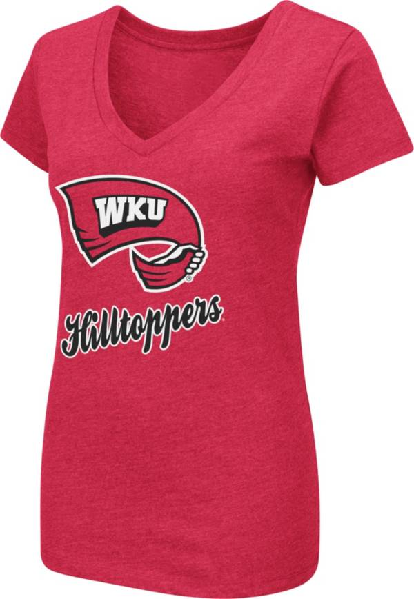 Colosseum Women's Western Kentucky Hilltoppers Red Dual Blend V-Neck T-Shirt product image