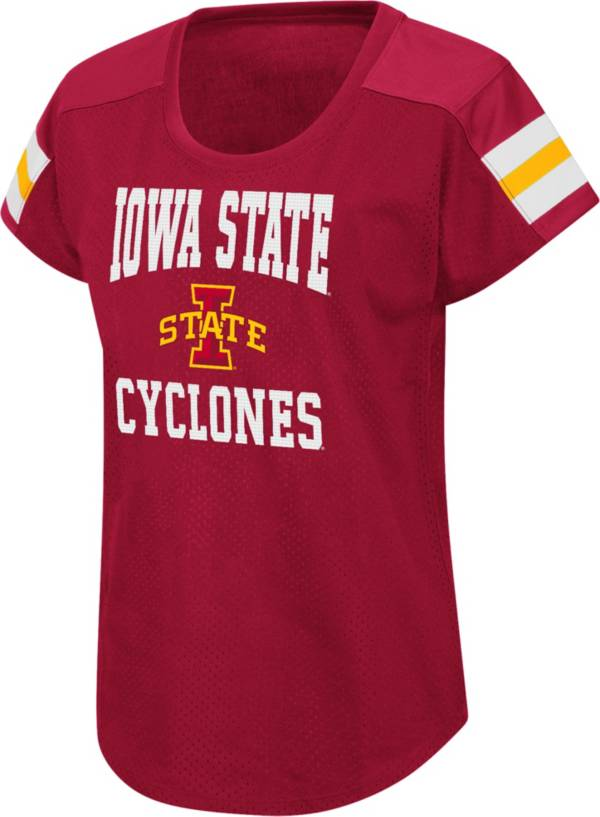 Colosseum Women's Iowa State Cyclones Cardinal Football Dolman T-Shirt product image
