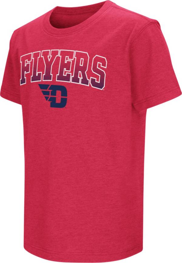 Colosseum Youth Dayton Flyers Grey Dual Blend T-Shirt product image