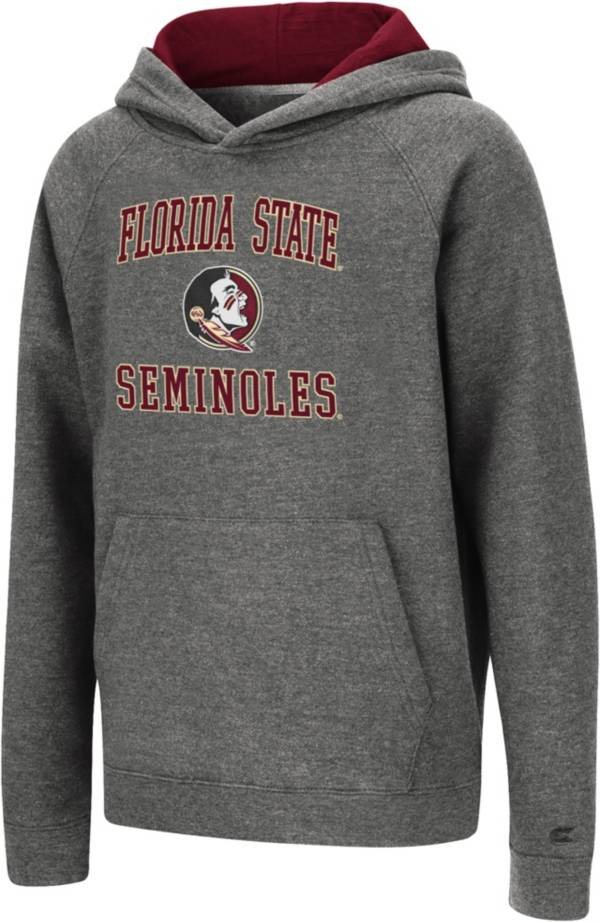 Colosseum Youth Florida State Seminoles Heather Grey Pullover Hoodie product image
