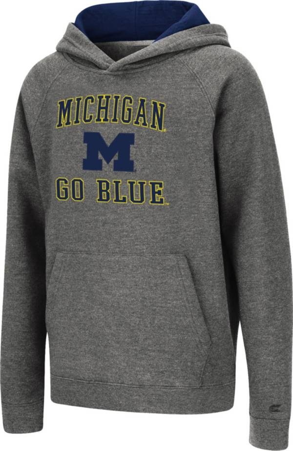 Colosseum Youth Michigan Wolverines Grey Pullover Hoodie product image