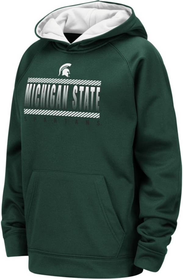 Colosseum Youth Michigan State Spartans Green Raglan Pullover Hoodie product image