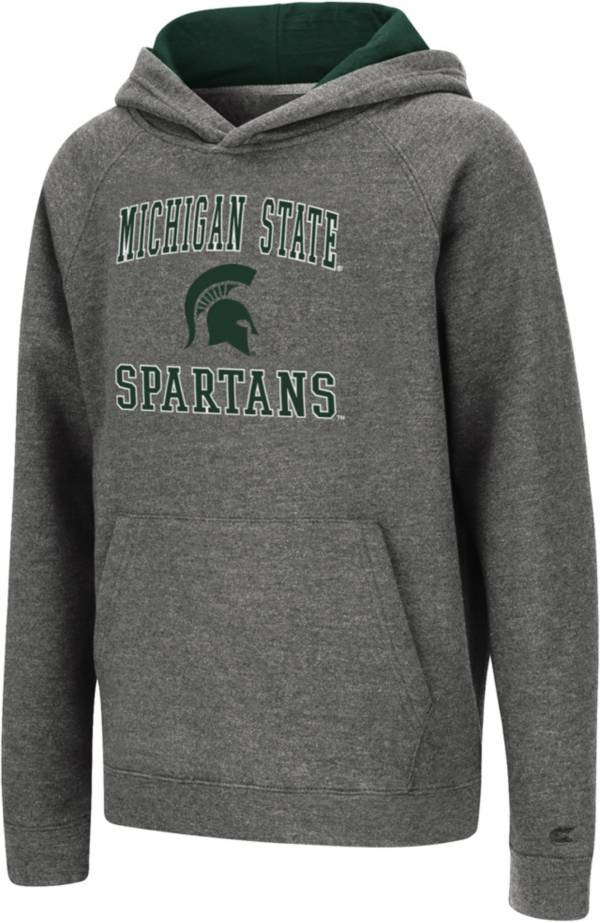 Colosseum Youth Michigan State Spartans Heather Grey Pullover Hoodie product image