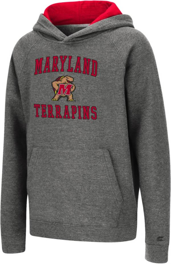 Colosseum Youth Maryland Terrapins Heather Grey Pullover Hoodie product image
