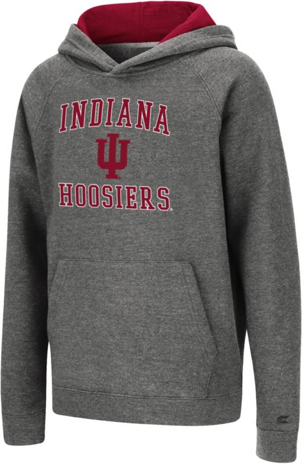 Colosseum Youth Indiana Hoosiers Heather Grey Pullover Hoodie product image