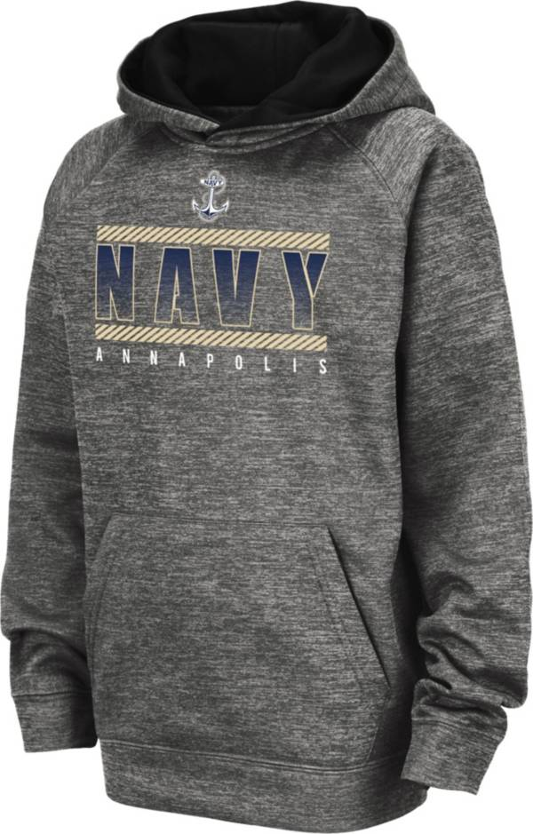 Colosseum Youth Navy Midshipmen Grey Pullover Hoodie product image