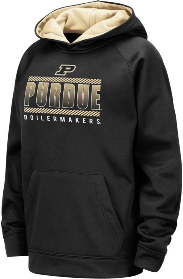 Colosseum Youth Purdue Boilermakers Raglan Pullover Black Hoodie product image