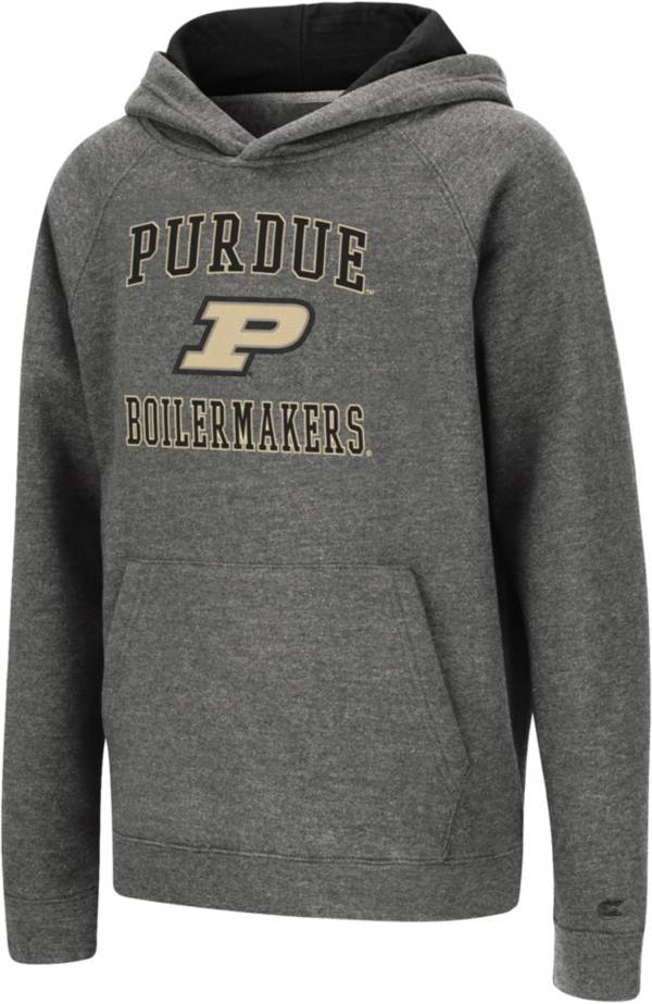 Colosseum Youth Purdue Boilermakers Heather Grey Pullover Hoodie product image