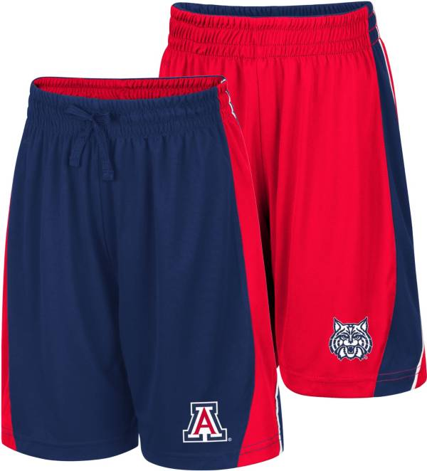 Colosseum Youth Arizona Wildcats Navy/Red Dino Reversible Shorts product image