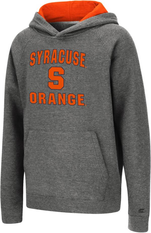 Colosseum Youth Syracuse Orange Heather Grey Pullover Hoodie product image