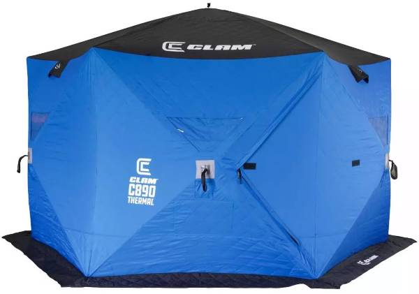 Clam C-890 Thermal Hub Shelter 6-Person Ice Fishing Shelter product image