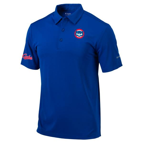 Columbia Men's Chicago Cubs Blue Omni-Wick Drive Polo product image