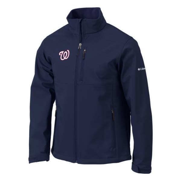 Columbia Men's Washington Nationals Navy Ascender Softshell Jacket product image