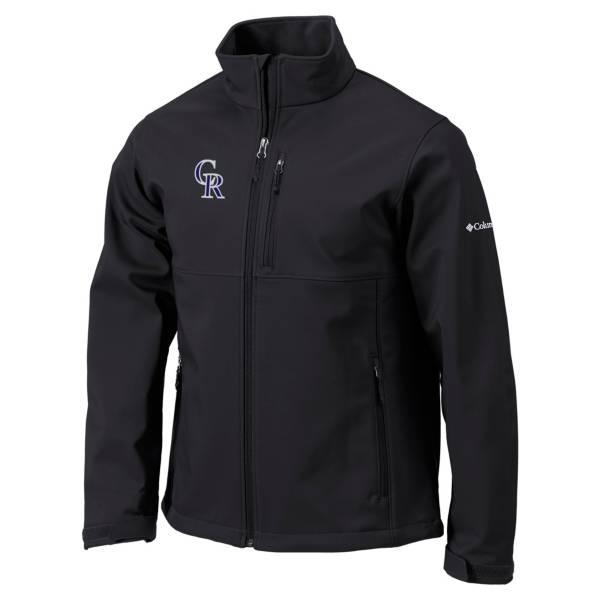 Columbia Men's Colorado Rockies Black Ascender Softshell Jacket product image