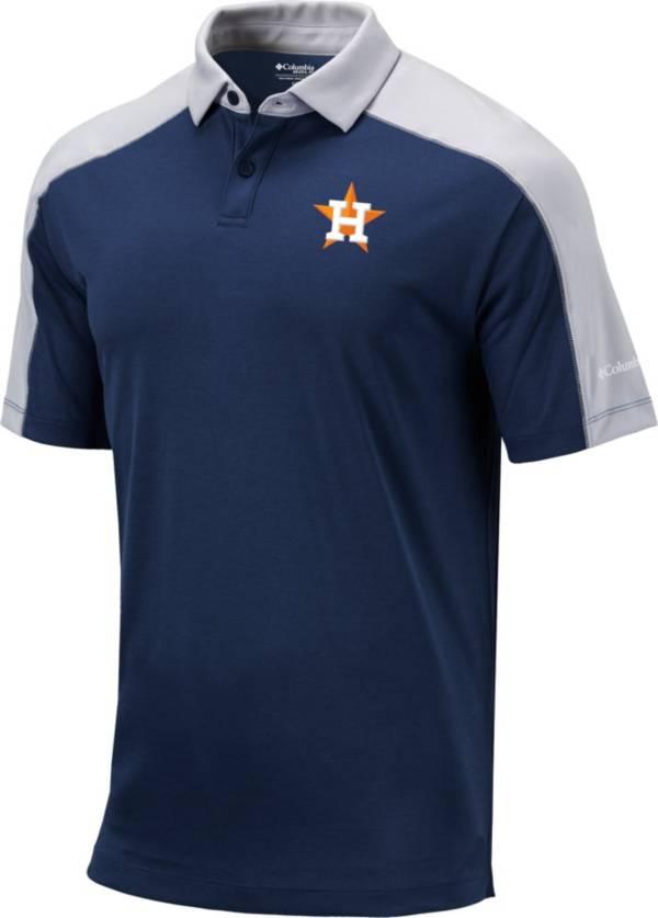 Columbia Men's Houston Astros Navy Omni-Wick Bracket Polo product image