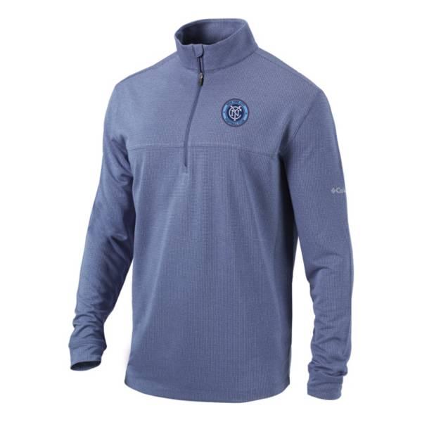 Columbia Men's New York City FC Soar Quarter-Zip Navy Pullover Shirt product image