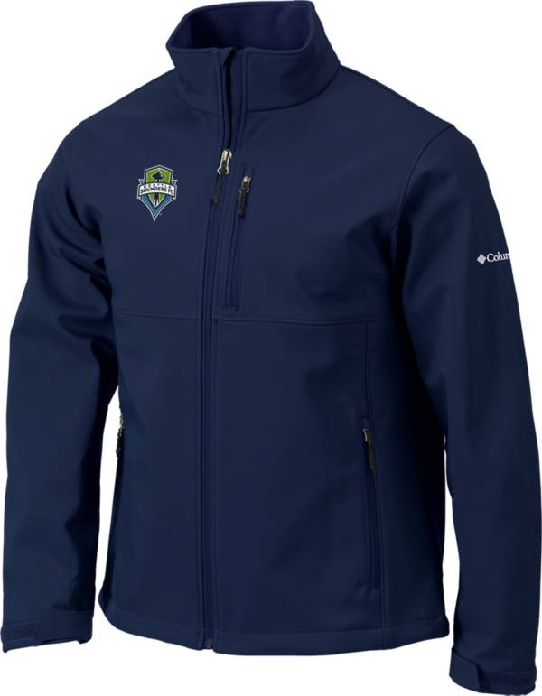 Columbia Men's Seattle Sounders FC Navy Ascender Softshell Jacket product image