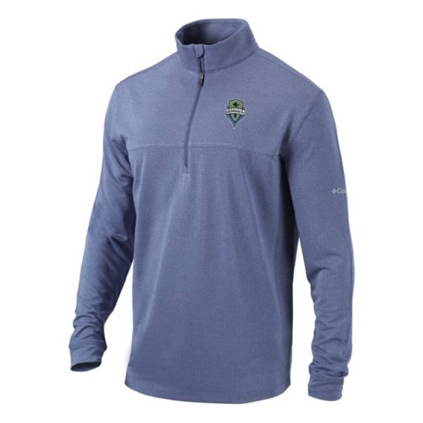 Columbia Men's Seattle Sounders Soar Quarter-Zip Navy Pullover Shirt product image