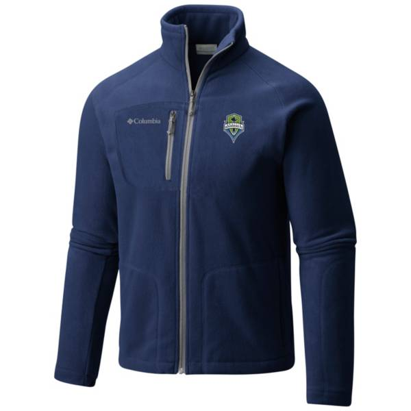 Columbia Men's Seattle Sounders Fast Trek II Navy Full-Zip Jacket product image