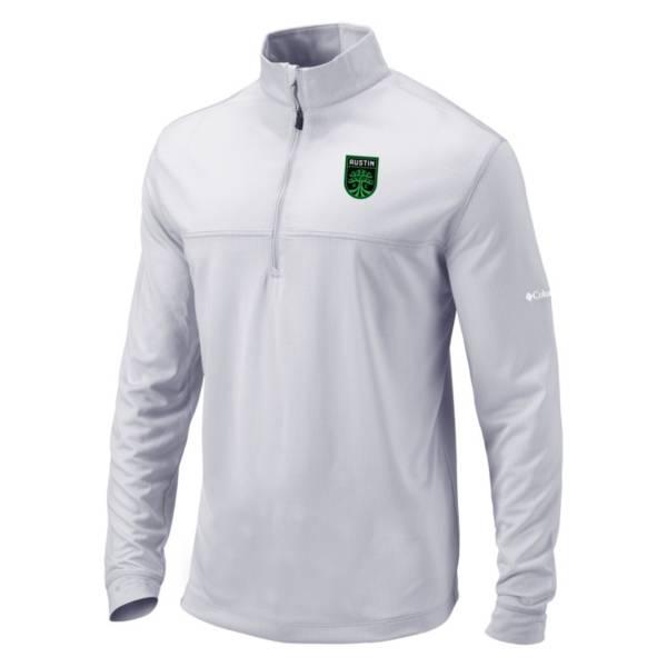 Columbia Men's Austin FC Soar Quarter-Zip White Pullover Shirt product image