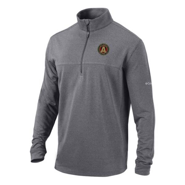Columbia Men's Atlanta United Soar Quarter-Zip Grey Pullover Shirt product image
