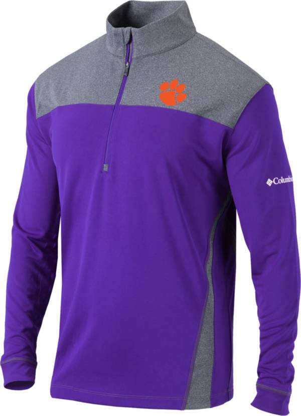 Columbia Men's Clemson Tigers Regalia Omni-Wick Standard Quarter-Zip Shirt product image