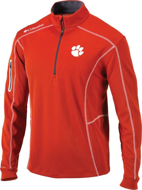 Columbia Men's Clemson Tigers Orange Shotgun Quarter-Zip Shirt product image