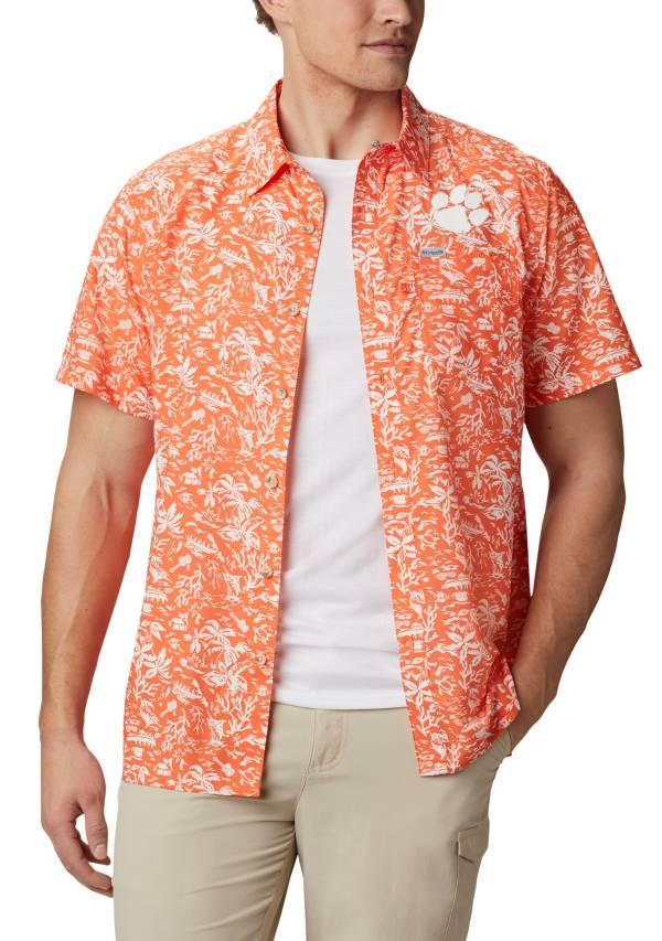Columbia Men's Clemson Tigers Orange Slack Tide Button-Down Shirt product image