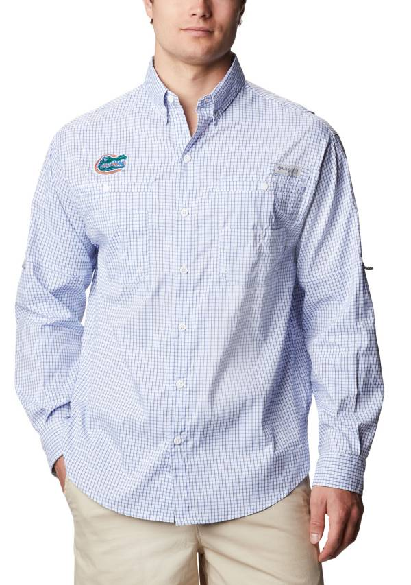 Columbia Men's Florida Gators Blue Gingham Tamiami Performance Shirt product image