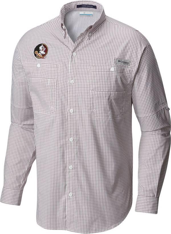 Columbia Men's Florida State Seminoles Garnet Gingham Tamiami Long Sleeve Shirt product image