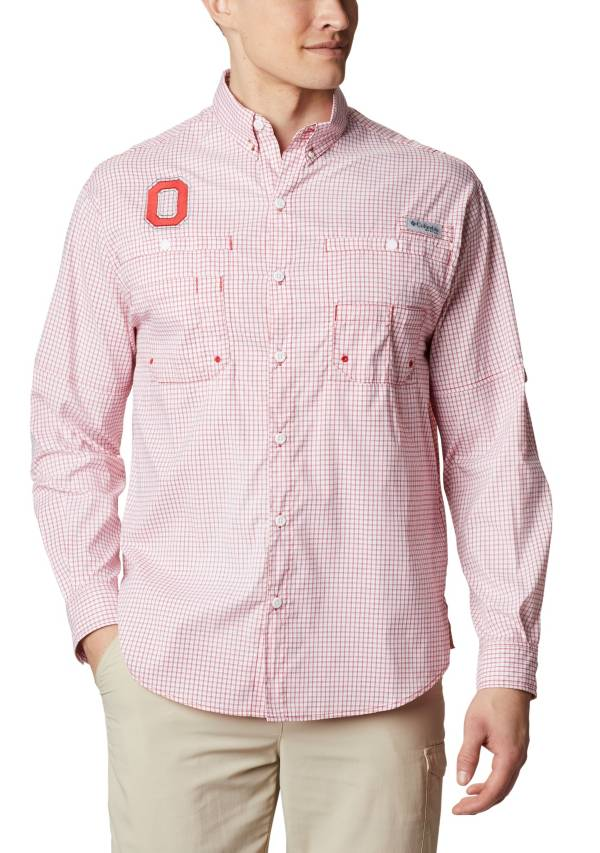 Columbia Men's Ohio State Buckeyes Scarlet Long Sleeve Tamiami Shirt product image
