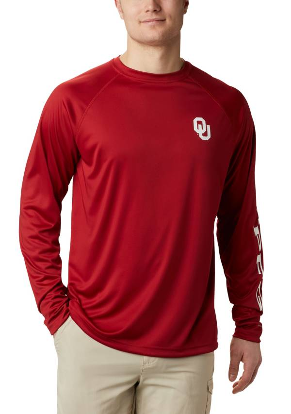 Columbia Men's Oklahoma Sooners Crimson Terminal Tackle Long Sleeve T-Shirt product image
