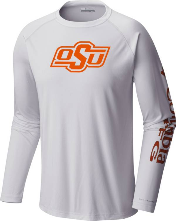 Columbia Men's Oklahoma State Cowboys Terminal Tackle Long Sleeve White T-Shirt product image