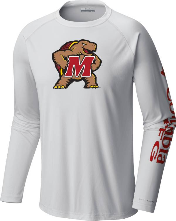 Columbia Men's Maryland Terrapins Terminal Tackle Long Sleeve White T-Shirt product image