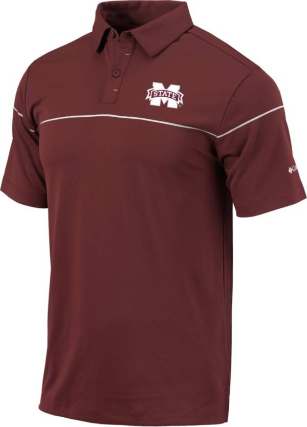 Columbia Men's Mississippi State Bulldogs Maroon Breaker Performance Polo product image