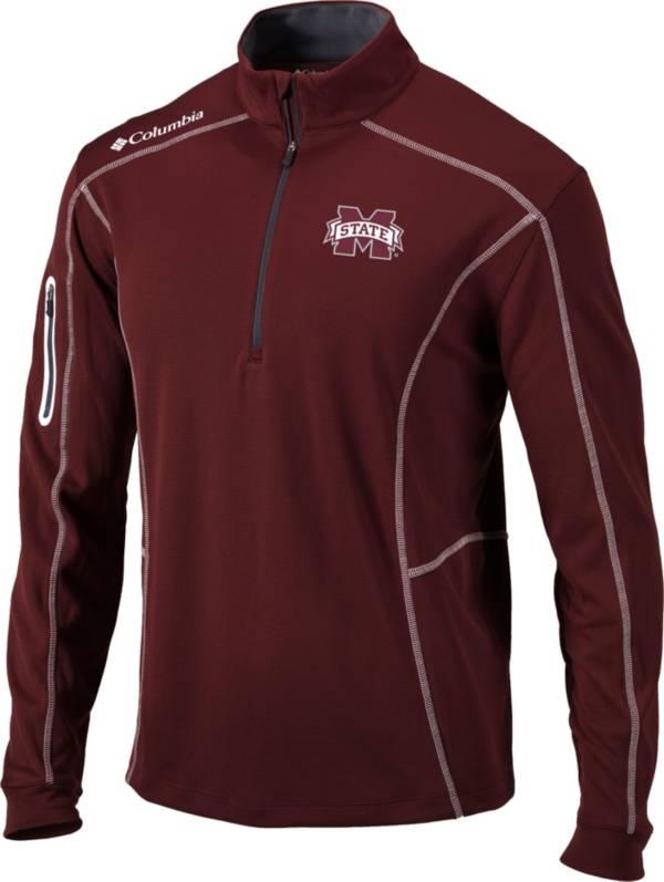 Columbia Men's Mississippi State Bulldogs Maroon Shotgun Quarter-Zip Shirt product image