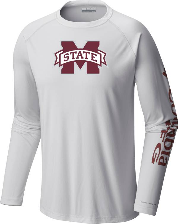 Columbia Men's Mississippi State Bulldogs Terminal Tackle Long Sleeve White T-Shirt product image